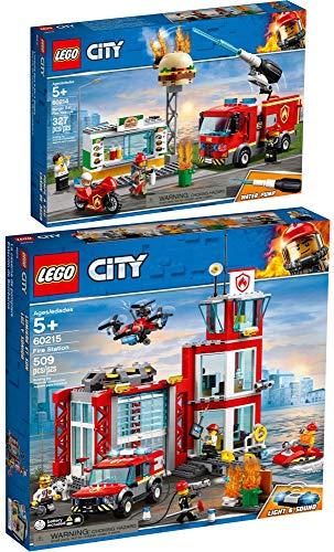LEGO® City 2er Set 60214 60215 Feuerwehreinsatz im Burger-Restaurant...