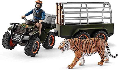 Schleich – 42351 – Set – Quad mit Anhänger und Ranger.