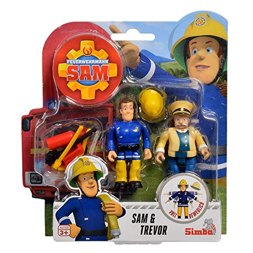Simba Sam & Trevor | Feuerwehrmann Sam | Spiel Figuren Set Toys