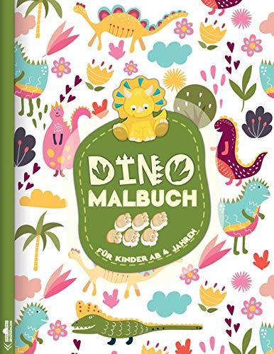 Dinosaurier Malbuch: Das große Dino Malbuch für...