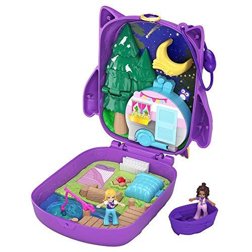 Polly Pocket GKJ47 - Nachteulen Campingplatz mit 2 kleinen Puppen und...