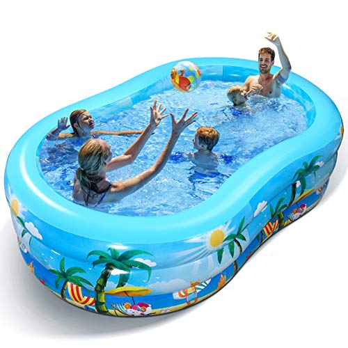 Aufblasbarer Pool - Groß Planschbecken für Kinder,...