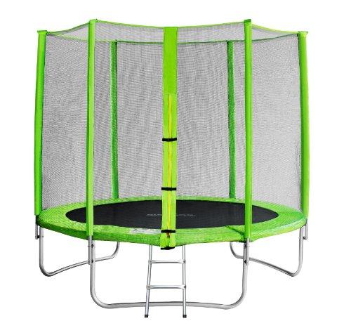 SixBros. SixJump Gartentrampolin 2,45m - Kindertrampolin für den Garten, Outdoor-Trampolin, Komplett-Set...