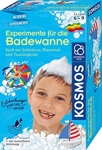 KOSMOS 657833 Experimente für die Badewanne, Experimentier-Spaß mit Seifenboot, Wasserrad und Taucherglocke,...
