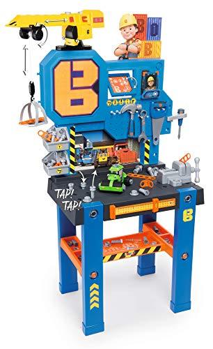 Smoby 360715 - Bob der Baumeister Werkbank-Center mit Kran, Kinderwerkbank, Kinderwerkzeug, ab 3 Jahren,...