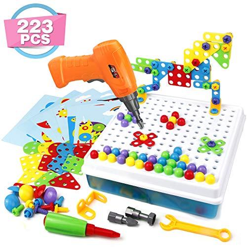 Symiu Mosaik Steckspiel 3D Puzzle Kinder Bausteine mit Drillen Pädagogisches Spielzeug Geschenk für Kinder...