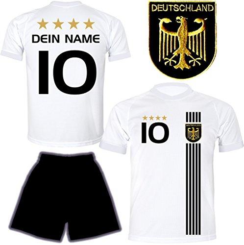 DE FANSHOP Deutschland Trikot mit Hose & GRATIS Wunschname + Nummer...