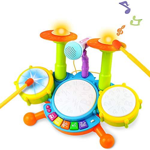 Kinder Trommel Spielzeug Musikinstrumente für Kleinkinder Mit...