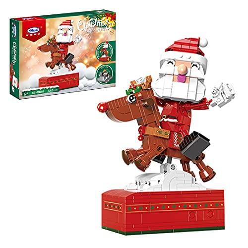 TRCS Bausteine Weihnachtsmann Spieluhr, 442 Teile Santa Claus Mit...