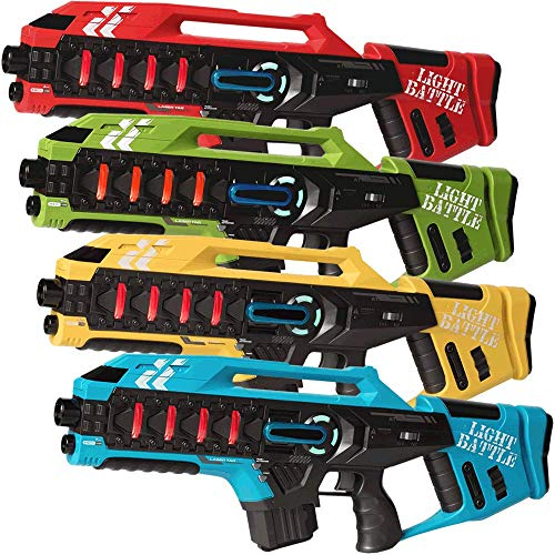 Light Battle Anti-Cheat Lasertag Set - 4 Mega Blaster...