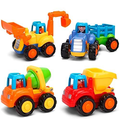 MOONTOY Baby Spielzeugauto Bagger Konstruktionsfahrzeuge Baufahrzeuge...