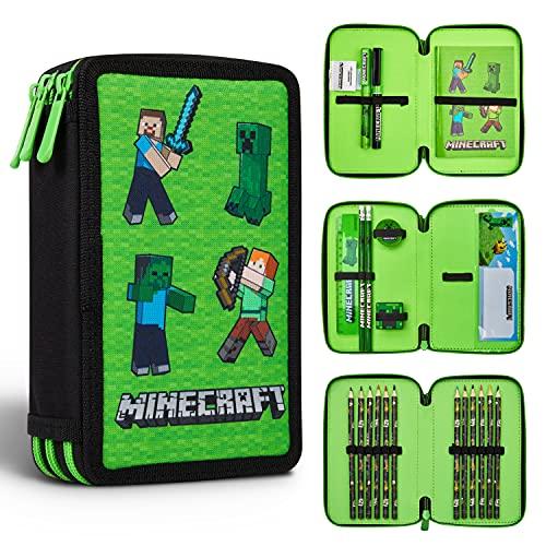 Minecraft Federmäppchen Junge Gefüllt, Federtasche Junge gefüllt...