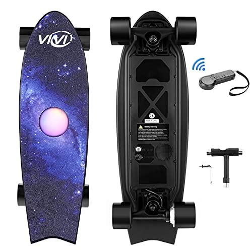 Vivi H2E Elektro Skateboard mit eingebautem bunten Licht, Elektro...