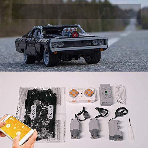 XIAN Upgrade Zubehör für LEGO Technic Dodge 42111, Motoren und...