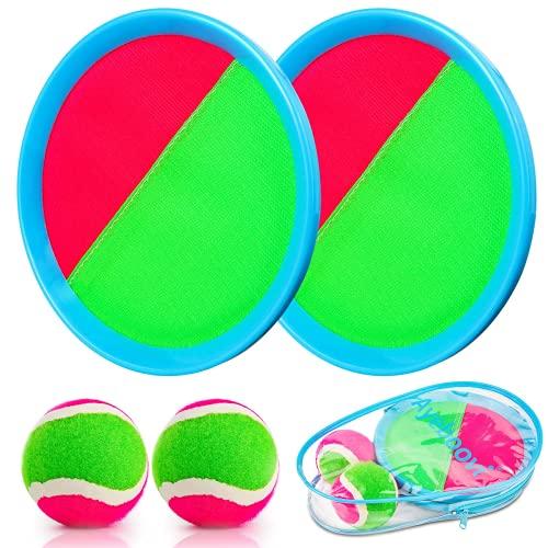 Weokeey Klettballspiel für Kinder, Klettball Set mit 2 Paddles und 2...