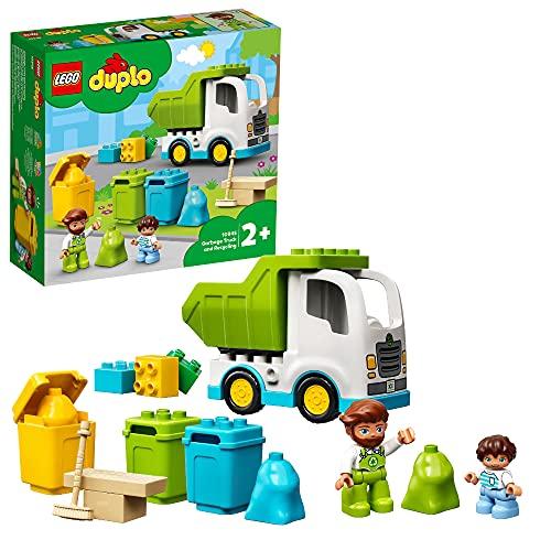 LEGO 10945 DUPLO Müllabfuhr und Wertstoffhof, Müllauto Spielzeug,...