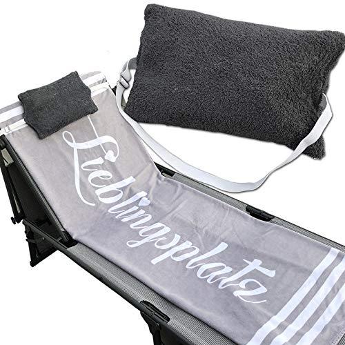 JEMIDI Kissen mit verstellbarem Gummizug für Sonnenliegen Stühle...