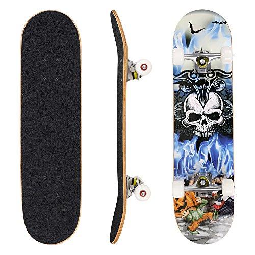 WeSkate Longboard Fishtail 40 Zoll Lange Cruiser Skateboard Komplett (101cm) für Erwachsene Jugendliche...