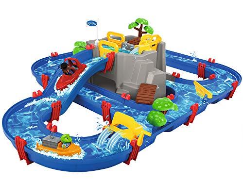 AquaPlay - Wasserbahn Set Bergsee - 42-teiliges Spieleset mit Bergsee,...