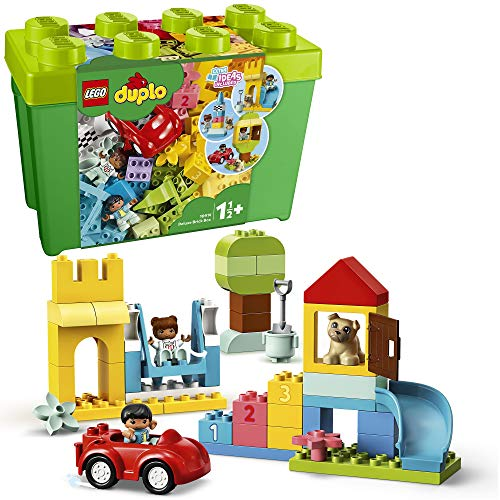LEGO 10914 DUPLO Deluxe Steinebox Bauset mit Aufbewahrungsbox, Erstes Steine-Lernspielzeug für Kleinkinder im...