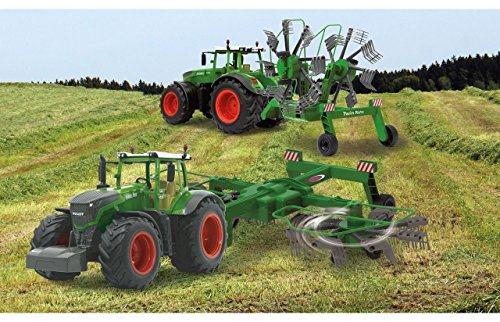 Jamara RC Traktor FENDT 1050 + Schwader-Anhänger XL Länge 70cm Ferngesteuert 1050/S