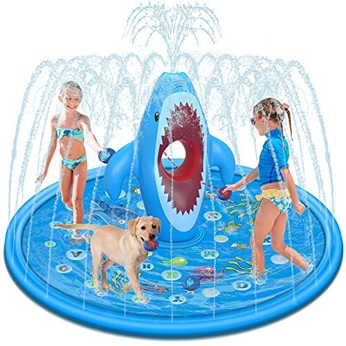 Tobeape Large Splash Pad für Kinder, Sprinkler Play Matte Outdoor...