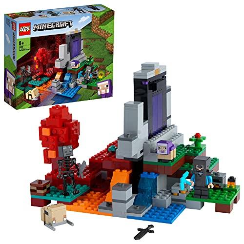 LEGO 21172 Minecraft Das zerstörte Portal Minecraft Spielzeug Set ab...