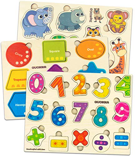 Spielzeug ab 1 2 3 Jahre - Montessori Holz Puzzle Spiele für Kinder...
