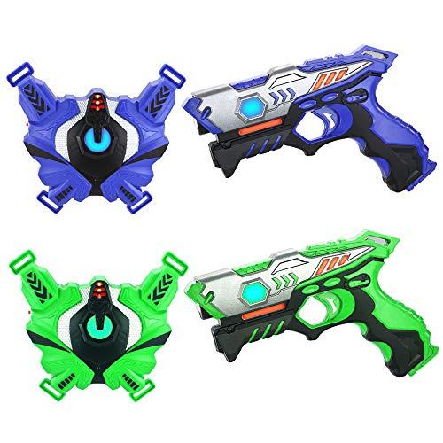 TINOTEEN Laser Tag Guns Set mit Westen, Infrarot Guns Set mit 2...
