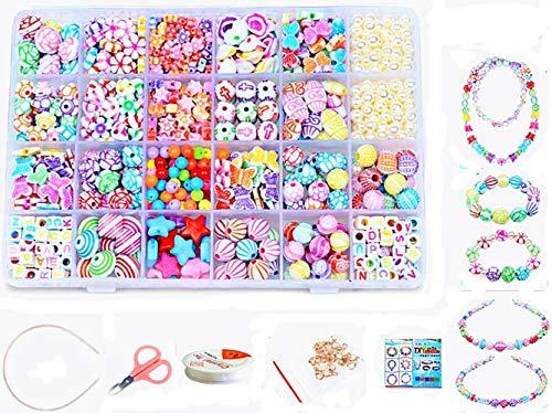 vytung 24 Arten Bunte Baby Stringing Perlen Spiel Schnürsystem Perlen Beads Spielzeug DIY Perlenschmuck für...