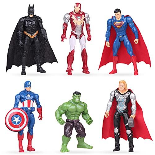 Superhero Cake Topper - Miotlsy 6pcs Avengers Kuchenaufsätze Cake...