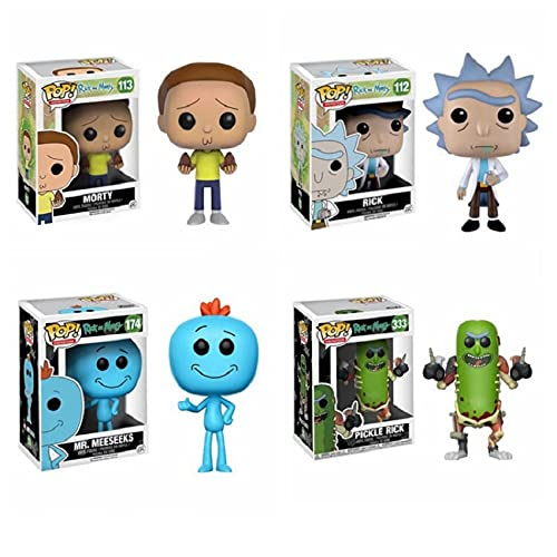 4Pcs Among Us Movie Pop Figuren Rick Morty Pickle Mr.Meeseeks #112...