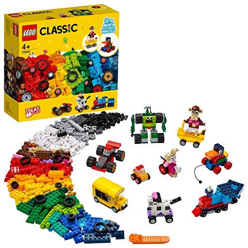 LEGO 11014 Classic Steinebox mit Rädern, Bausteine für Kinder,...