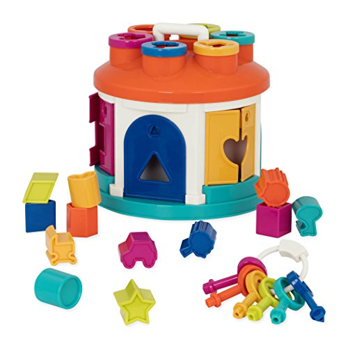 Battat – Buntes Formensortierspiel Haus – Spielzeug zum Sortieren...