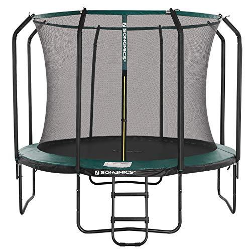 SONGMICS Trampolin 305 cm, rundes Gartentrampolin mit Sicherheitsnetz...