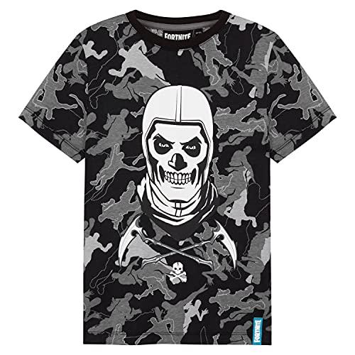 Fortnite T-Shirt Jungen, T Shirt Jungs mit Skull Trooper, T-Shirt...