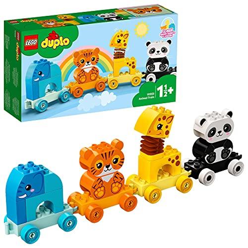 LEGO 10955 DUPLO Mein erster Tierzug mit Elefanten, Tiger, Panda und...