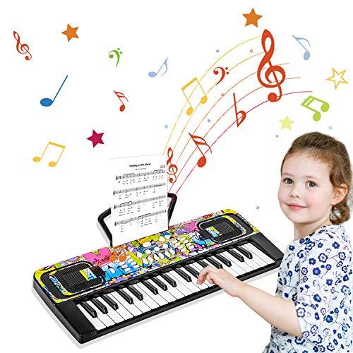 Klavier Keyboard, 37 Tasten Multifunktions-Keyboard Klaviertastatur...