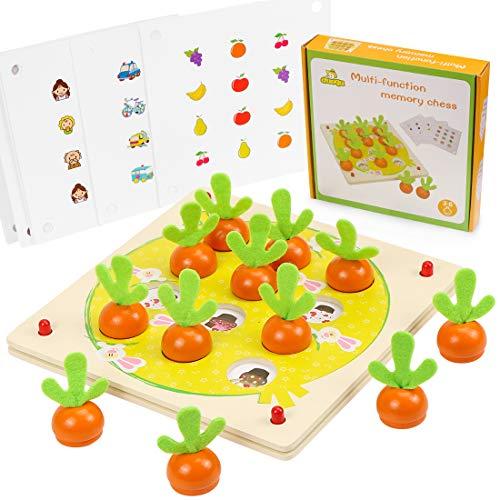 Holzspielzeug Montessori, Karotte Spielzeug,...