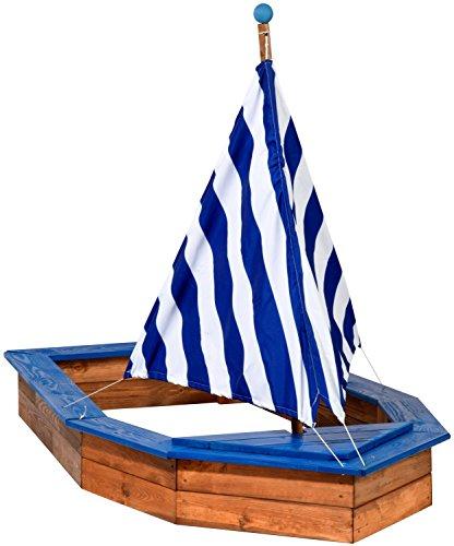 dobar 94600FSC Sandkasten Schiff aus Holz groß, Rumpf, Sandkiste Boot...