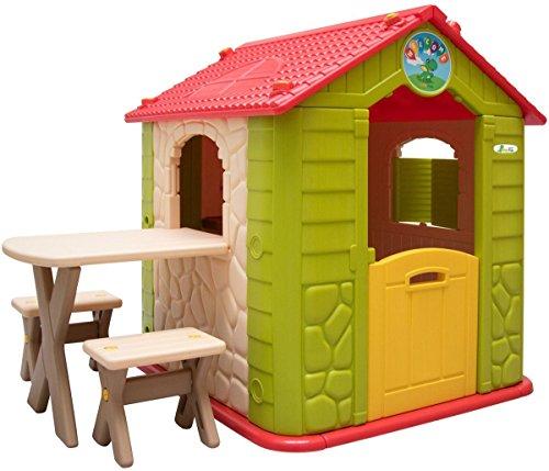 LittleTom Kinder Spielhaus ab 1 - Garten Kinderhaus mit...