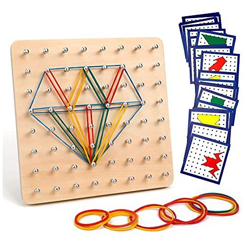 Homealexa Holz Geoboard Set Geometriebrett Montessori...
