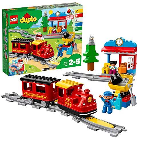 LEGO 10874 DUPLO Dampfeisenbahn, Spielzeugeisenbahn mit Licht &...