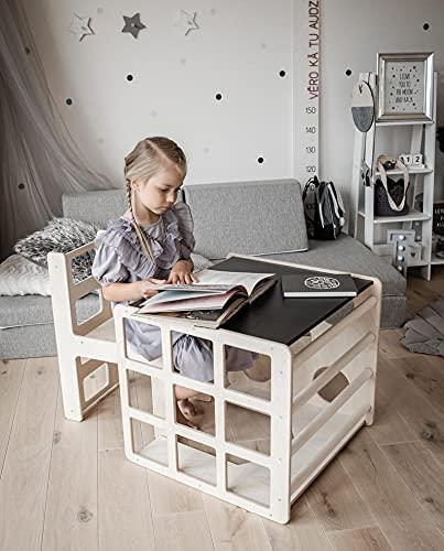Sweet Home from Wood Würfel-Tisch mit Stuhl & Rampe -...