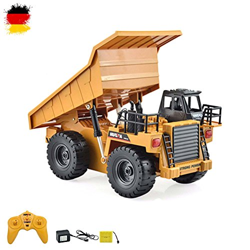 HSP Himoto RC Ferngesteuerter Kipper Tieflader Dump Truck 2.4GHz Edition, kippbarer Ladefläche und vieles...