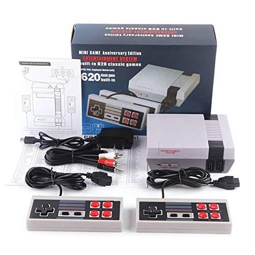Urhause TV Spielekonsolen für Kinder Erwachsene, NES Mini-Spielekonsole Retro Spielekonsole Eingebaute 620...