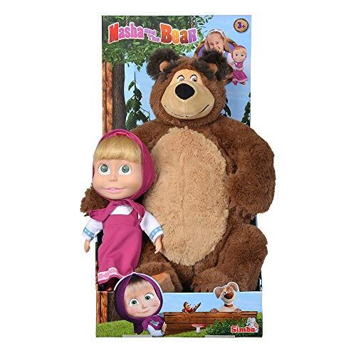 Simba 109301016 Mascha und der Bär Set Plüschbär Puppe groß Masha...