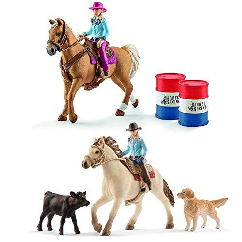 Schleich Horse Club Western Set - Westernreiten und Barrel Racing...