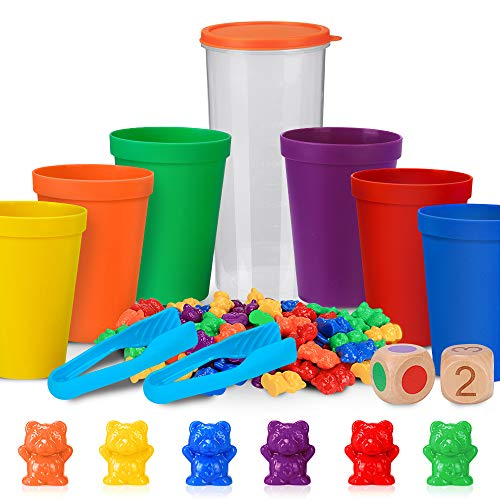Zählbären Set Montessori Mathe Spielzeug für Kinder,...