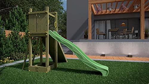 Kibungi Spielturm FUNNY3 mit Rutsche und Sandkiste inklusive...